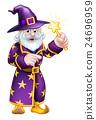 Cartoon Pointing Wizard 24696959