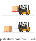 Logistics illustrations. loading trucks, forklifts 24700548