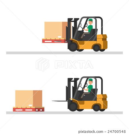 Logistics illustrations. loading trucks, forklifts 24700548