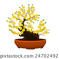Yellow Apricot Flower, traditional lunar new year 24702492
