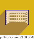 Flat web icon with long shadow  football goal 24703950