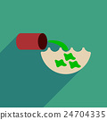 Flat web icon with long shadow water pollution  24704335