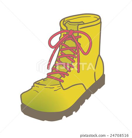Illustration of shoes (Hatsunei boots trekking boots) 24708516