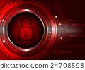 Switch button with abstract background 24708598
