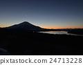 富士山 山中湖 暮色 24713228