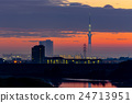 skytree tower, sunset, twilight 24713951