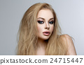 Beautiful girl with blond long hair and makeup 24715447