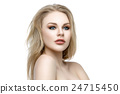 Beautiful girl with blond long hair and makeup 24715450
