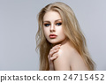 Beautiful girl with blond long hair and makeup 24715452