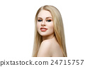 Beautiful girl with blond long hair and makeup 24715757