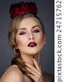 Beautiful girl with red makeup 24715762