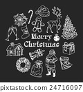 Holly jolly Merry Christmas vector set of icons 24716097