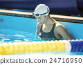 Swimmer in the swim pool 24716950