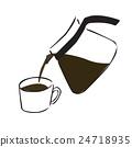 咖啡 電腦線上鑑識證據擷取器 傾倒的 24718935