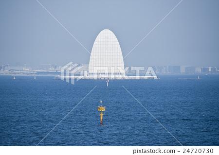 Wind tower Tokyo Bay Aqua Line Kawasaki artificial island 24720730