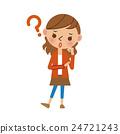 고민하는 젊은 여성 24721243