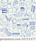 Breakfast doodles seamless pattern 24723377