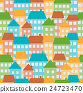 Houses seamless pattern 24723470