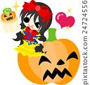 Halloween และ Jack O Lantern และ Snow White 24724556