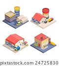 Warehouse Isometric Icons Set 24725830