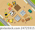 Construction Top View Illustration  24725915