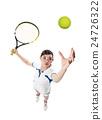 Serving tennis ball 24726322