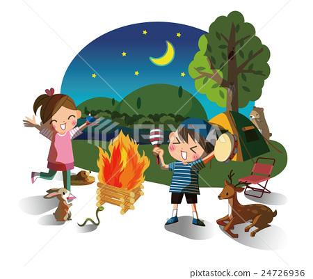 營地 露營 月夜 24726936