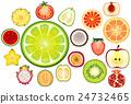 水果 苹果 柠檬 24732465