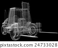 isolated transparent forklift truck 24733028