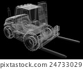 isolated transparent forklift truck 24733029