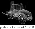 isolated transparent forklift truck 24733030
