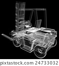 isolated transparent forklift truck 24733032