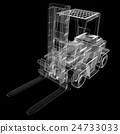 isolated transparent forklift truck 24733033