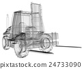 isolated transparent forklift truck 24733090