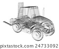 isolated transparent forklift truck 24733092