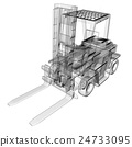 isolated transparent forklift truck 24733095