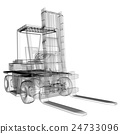 isolated transparent forklift truck 24733096