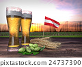 beer consumption in Austria. 3D render 24737390