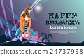 Werewolf Monster Happy Halloween Party Invitation 24737958