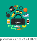 Fitness and a healthy lifestyle banner 24741079