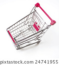 Shopping cart on white 24741955