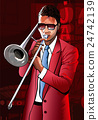 Jazz trombone player 24742139