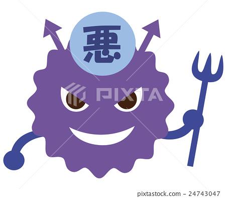 bad bacteria, character, bacterium 24743047