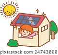 photovoltaic, solar power, an eco-house 24743808