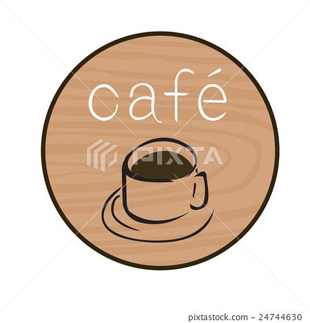 Cafe signboard illustration 24744630
