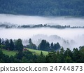 Magnificent heavy mist in landscape. Autumn fog 24744873