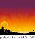 萬聖節 城堡 滿月 24746249