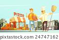 chef, pizzeria, set 24747162