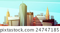 Manhattan Cityscape Background With Skyscrapers  24747185