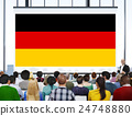 Germany Country Flag Nationality Culture Liberty Concept 24748880